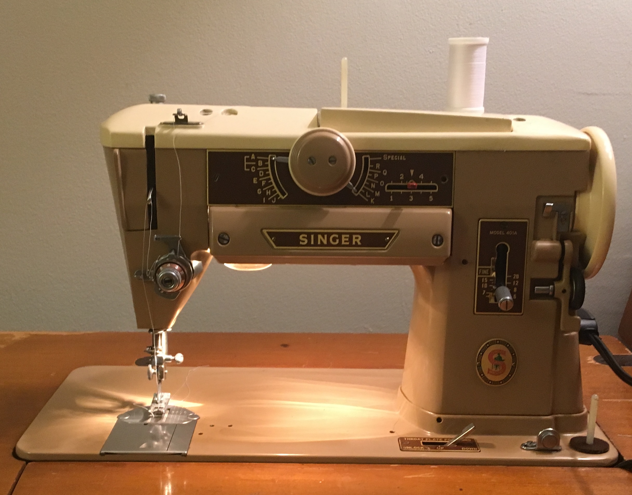 Singer 401a sewing machine.